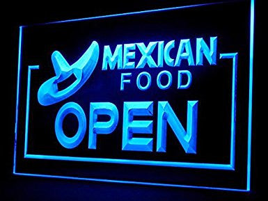 Mexican Food Open Neon Sign (LED. Light. Restaurant. Display)