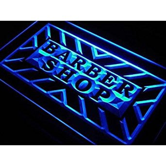 BuW Barber Shop Hair Cut Display Neon Light Sign. led lights cool night light...
