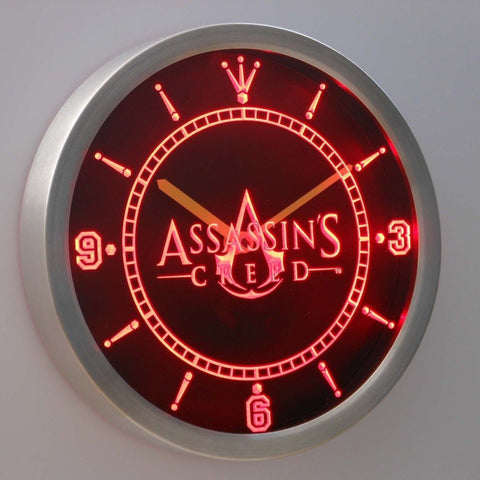 Assassins Creed 3D Neon Sign LED Wall Clock NC0206-R by WorldLEDHouse