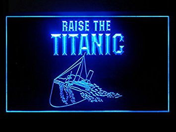 Raise The Titanic Hub Bar Advertising LED Light Sign P507B