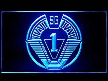 Stargate SG-1 Milky Way Glyphs (Pattern 2) Bar Advertising LED Light Sign P446B