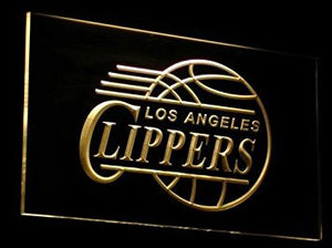 Los Angeles Clippers Neon Sign (B012-b. LED. LA)