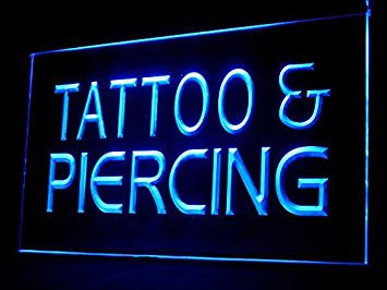 Tattoo & Piercing Shop Service Led Light Sign