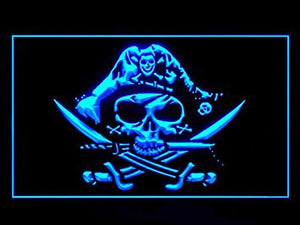 Pirate Deadman's Chest Jolly Roger Bar Led Light Sign