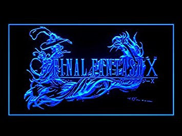 Final Fantasy X Neon Sign (FF10. Bar. Pub. Advertising. LED. Light)