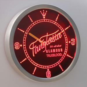 Fangtasia True Blood 3D Neon Sign LED Wall Clock NC0226-R