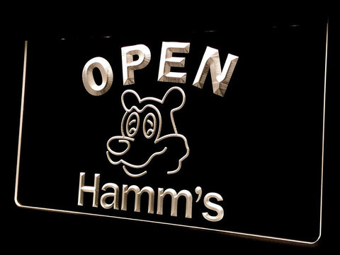 NL251 Hamm's Beer OPEN Bar Neon Light Signs (white)