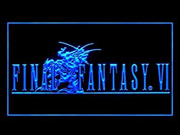 Final Fantasy VI Neon Sign (FF6. Bar. Hub. Advertising. LED. Light. J549B)