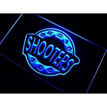BuW Shooter Happy Hour Bar Beer Neon Light Sign. blinking led lights kids nig...