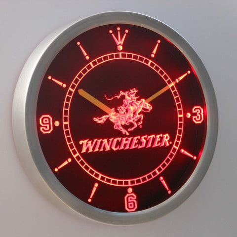 Winchester Firearms Gun 3D Neon Sign LED Wall Clock NC0189-R