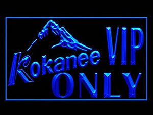 Kokanee Beer VIP ONLY Pub Bar Advertising LED Light Sign Y038B