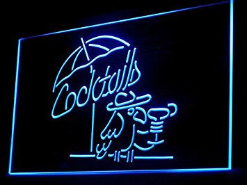 Classic Cocktails Parrot Man Cave LED Neon Sign - Light Sign