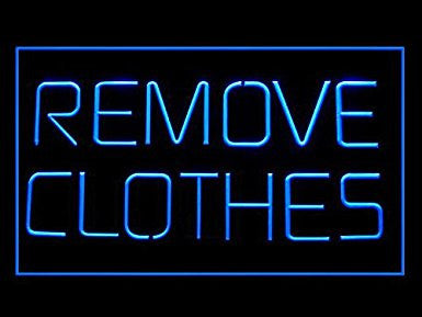 C B Signs Man Cave One Night Stand Remove Clothes LED Sign Neon Light Sign Di...