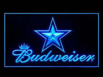 Dallas Cowboys Budweiser Neon Sign (LED. Light)