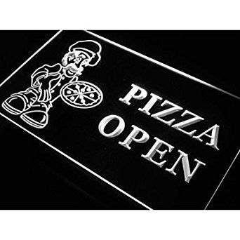 BuW Pizza OPEN Shop Cafe Store Neon Light Sign. led lights for home pretty ni...