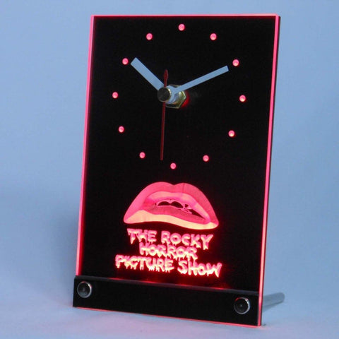 The Rocky Horror Picture Show Table Desk 3D LED Neon Clock TNC0220-R