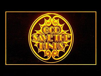 God Save The Kinks Bar Led Light Sign