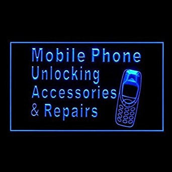 BuW Mobile Phone Unlocking Repair Advertising LED Light Sign. led lights for ...