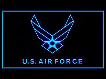 US Air Force Neon Sign (Military. Bar. LED. Light)