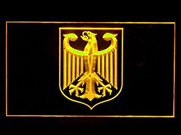 German Eagle Flag Neon Sign (LED. Light)