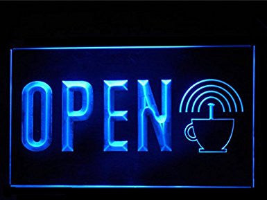 Internet Wifi Cyber Cafe Open Sign LED Neon Light Display