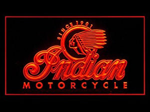 Indian Motorcycle Bar Pub Led Light Sign