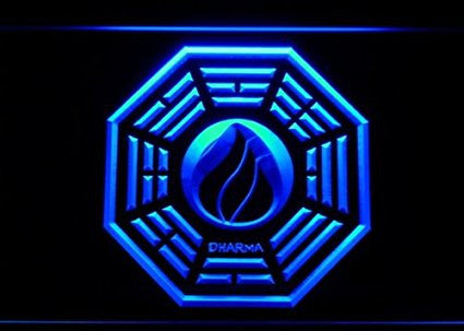 Dharma Stations Initiative Flame Lost Neon Sign