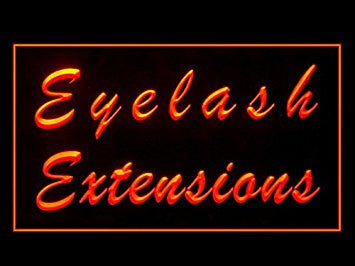 Eyelash Extensions Beauty Salon Display Led Light Sign