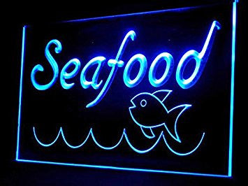 Fresh Seafood Fish Restaurant Led Light Sign