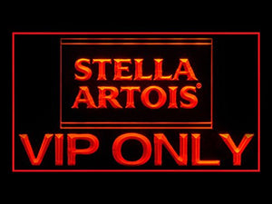 Stella Artois VIP ONLY Neon Sign (Pub. Beer Bar. Advertising. LED. Light. Y050R)