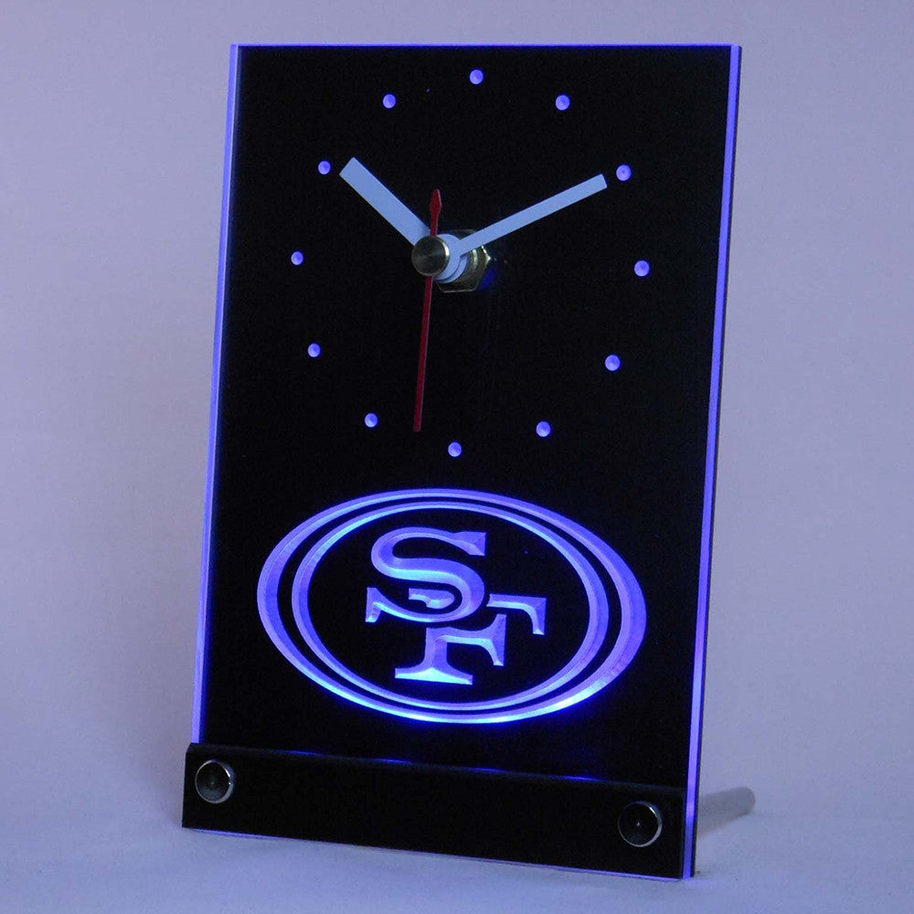 NFL Sign Football Sports Fan Best Design Exclusive Colorful Table Desk 3D LED...