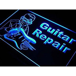 Guitar Repairs Service Instrument Shop Neon Sign. led flood lights prince...