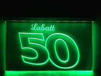 Labatt 50 Beer Neon Sign (LED. Light)