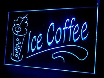 Ice Coffee Neon Sign (Drink. Beverages. Shop. LED. Light)