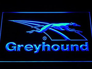 Greyhound Dog Bus Travel LED Neon Light Sign Man Cave D196-B