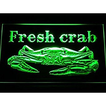 BuW Fresh Crab Restaurant Neon Light Sign. led flood lights princess night li...