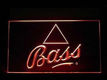 Bass Neon Sign (J344R. Beer. Sport. Game. Bar. Hub. Advertising. LED. Light