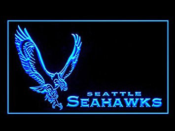 Seattle Seahawks Neon Sign (Alternate. Football. LED. Light)