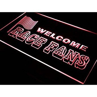 BuW Welcome Race Fans Car Decor Neon Light Sign. blinking led lights cool nig...