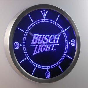 Busch Light Beer Neon LED Wall Clock