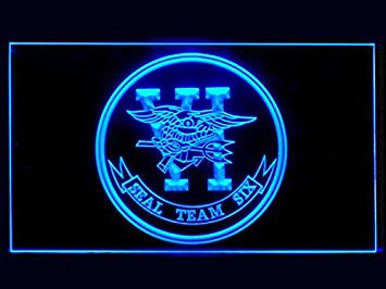 US Navy SEAL Team 6 Six Neon Sign (LED. Light)