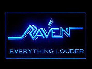 Raven Everything Louder Hub Bar Advertising LED Light Sign P474B