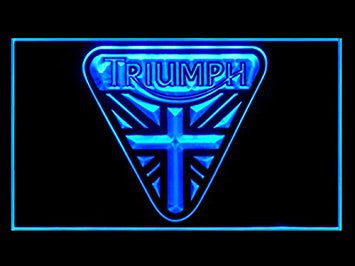 Triumph Union Jack Bar Pub Led Light Sign