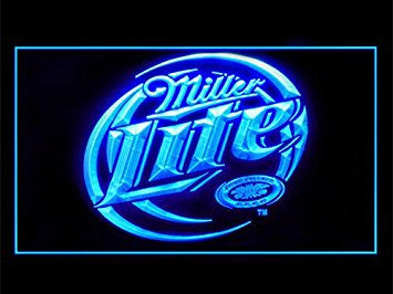Miller Lite Beer Neon Sign (Drink. Bar. Light. LED)