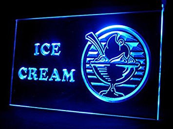 Ice-cream Cafe Shop Restaurant Led Light Sign