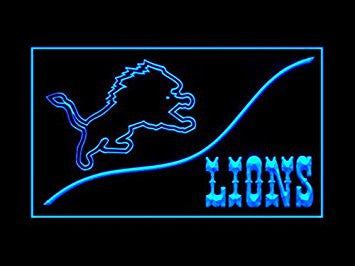 Detroit Lions Neon Sign (Cool. LED. Light)