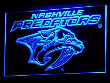 Nashville Predators NHL Hockey Neon Light Sign