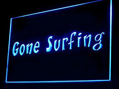 Surf Shop Man Cave Gone Surfing LED Sign Neon Light Sign Display