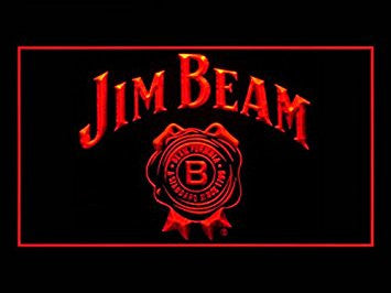 Jim Beam Bourbon Whiskey Pub Bar Advertising LED Light Sign Y094R