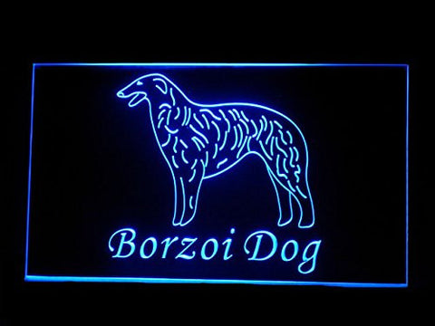 C B Signs Borzoi Dog LED Sign Neon Light Sign Display